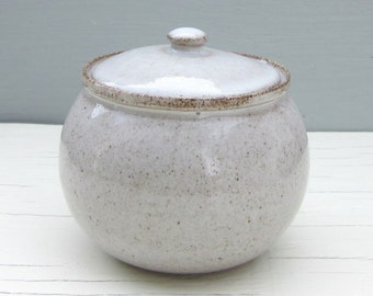 white ceramic sugar bowl, jam jar, or honey pot - MADE TO ORDER