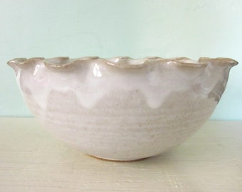 white serving bowl - 9 inches- MADE TO ORDER