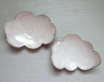 2 cloud tea spoon rest - 4 inches