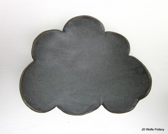 grey cloud plate - 6 inches