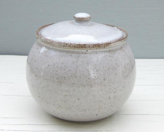 White Ceramic Sugar Bowl Jam Jar Or Honey Pot Made To