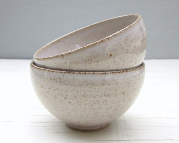 made to order - wheel thrown pottery - 2 small ice cream bowls