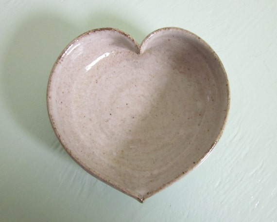 white ceramic heart bowl  - 3 1/2 inches