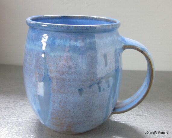 large blue coffee mug - 24 oz
