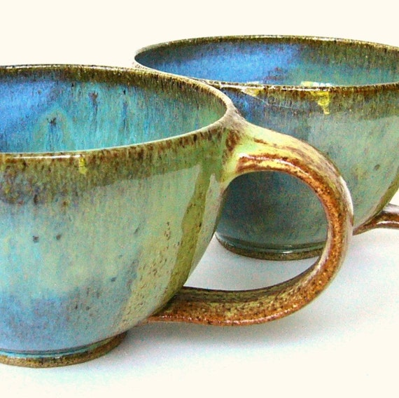 2 Small Soup Cups With Handles 14 Oz