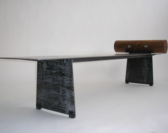 Tribal Bench Steel with Jamaica Dogwood Headrest