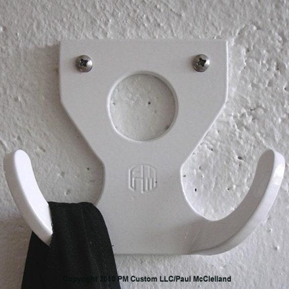 Reserved for Deirdre-3 Coat Hook White Wauli PC
