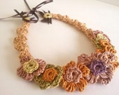 Hand Crocheted Spring Garden Necklace