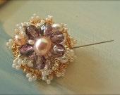 Silver Crochet Gold Crochet Lace Brooch-Wedding Pearl Brooch-Bridal Dainty Snowflake-Crochet Pin jewelry-Exclusive Stunning Sultana Mehranda
