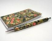YUZEN WASHI NotePad and Assorted Pen Set plus Gift