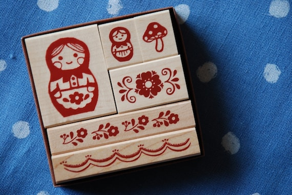 Matryoshka Dolls - Japanese Stamps