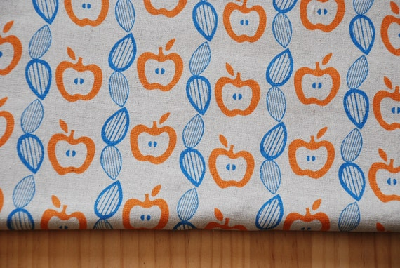 Apples (Orange) - Japanese Fabric