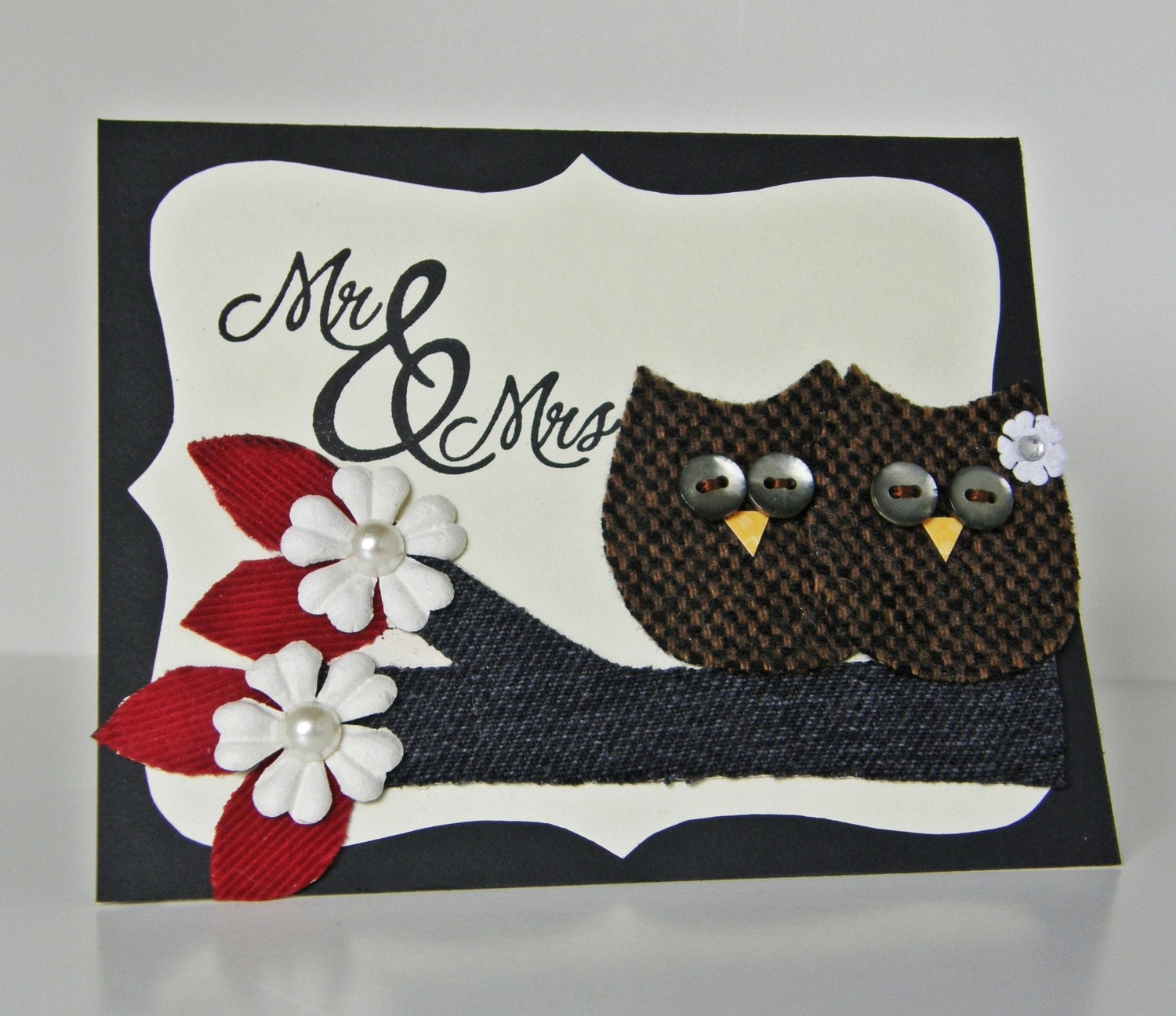 Wedding Card or Anniversary Card Handmade by HollyCraftOriginals