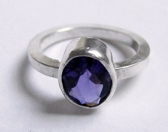 Amethyst Ring Sterling Silver Any Size