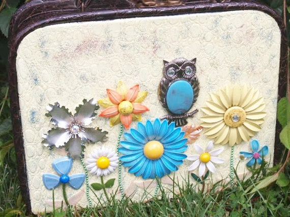 RESERVED Owl Handbag Pure Sunshine One-of-a-Kind Mixed Media Art Purse