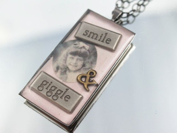 Smile & Giggle Necklace One-of-a-Kind Resin Pendant
