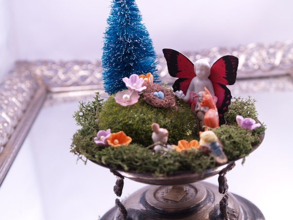 Waiting for Babies Frozen Charlotte Art Assemblage Fairy Woodland Forest Decoration