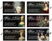 BAROQUE Marie Antoinette BUSINESS CARDS Professionally Printed by Vintage Bella