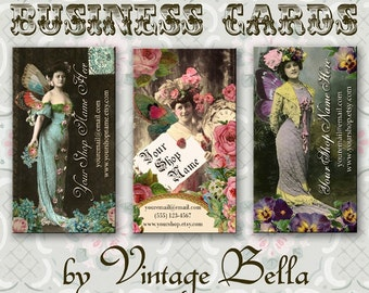 Vintage Actress Fairy Business Cards By Vintage Bella Professionally Printed