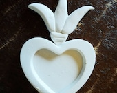 Unfinished nicho flaming heart 4 inch miniature