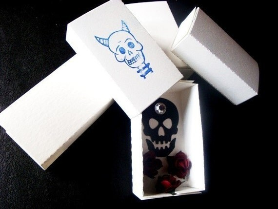 Six blank white matchboxes for shrines crafts jewelry for Blank matchboxes for crafts