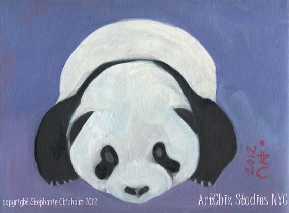 Baby Panda Bear Art Print. Baby Bear. Kawaii. Kids Art Print. Awesome Baby Shower Gift. Children's illustration, kids art print, poster