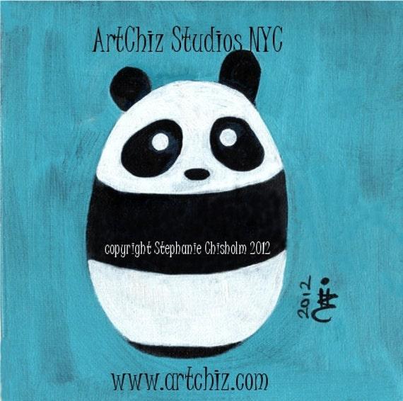 Baby Panda. Panda Art Print. Art Print. Cute Nursery Animal Print. Children's illustration, kids art print, poster.