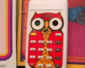 Vintage Quiz Kid electronic calculator math game with owl, works