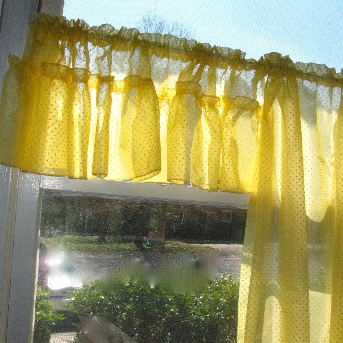 yellow valance solid banana window valance rod. Black Bedroom Furniture Sets. Home Design Ideas