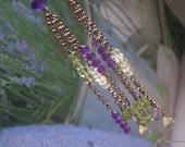 ISABELLA Earrings - Fine Sterling, Topaz, Peridot, Purple Amethyst, Lemon Quartz
