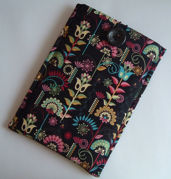 Kindle Fire or Kindle 3 Ereader Sleeve, Case, Beautiful Floral Musings Fabric