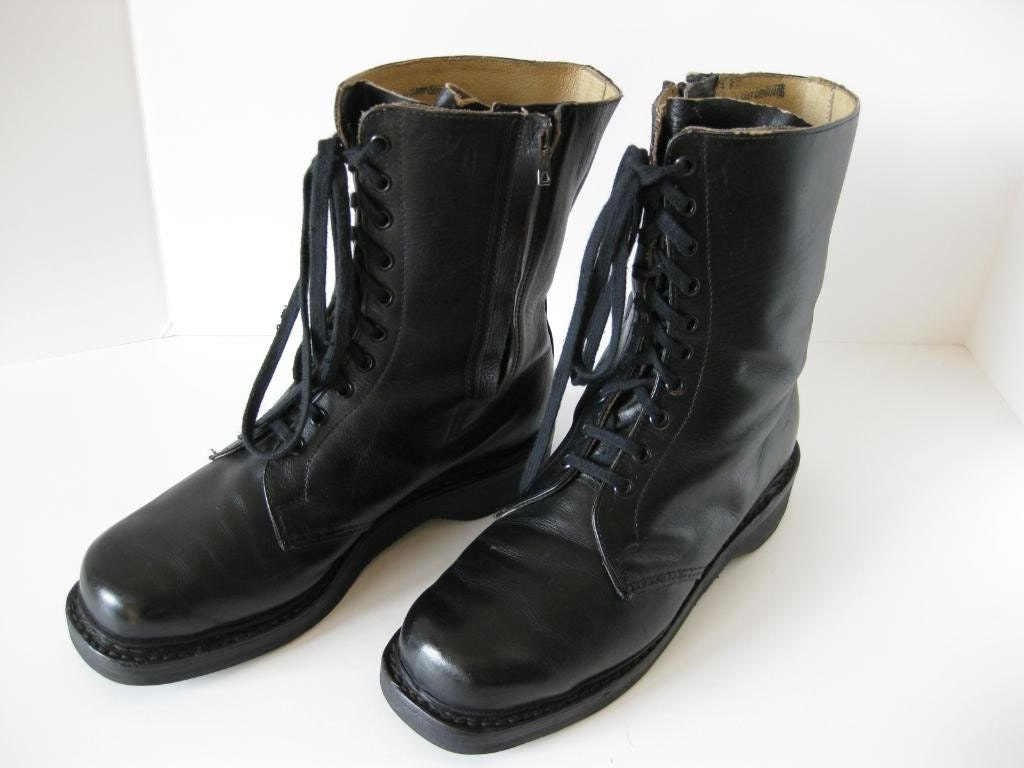 vintage leather paratrooper boots made in east germany price