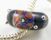 Deep Sea Fishing -  European Charm Bracelet Sterling Silver Cored Lampwork Bead
