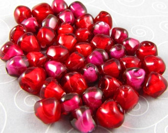 25 Pomegranate Seed Beads - Made to Order