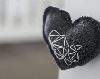 Reduced Price** Gray Heart Hanger/Mobile