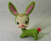 Green Retro Bunny  made to order