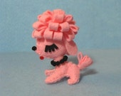 Tiny Pink French Poodle