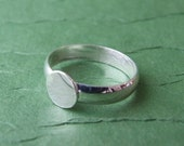 Sterling Silver Ring Base - Sized