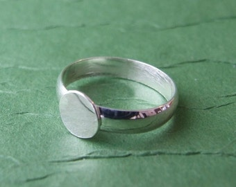 Sterling Silver Ring Blank - Sized to fit - Ring Base with pad - Sterling silver finding - .925- premium quality