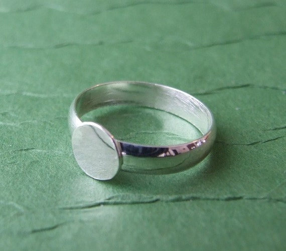 One Sterling Silver Ring Blank-Non-adjustable