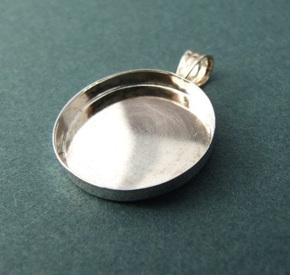 sterling silver pendant blank