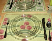 set of 4 wavy dot tapestry placemats