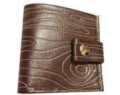 Faux Bois ) Bifold Wallet with Snap (Plus Zipper)