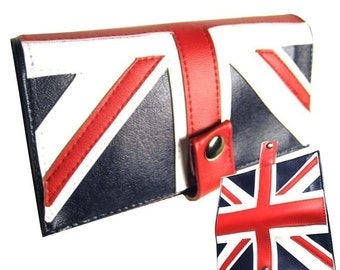 Union Jack)  Pocketbook Slash Checkbook Wallet