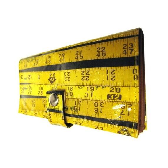 Measured (Yellow)) Pocketbook Slash Checkbook Holder