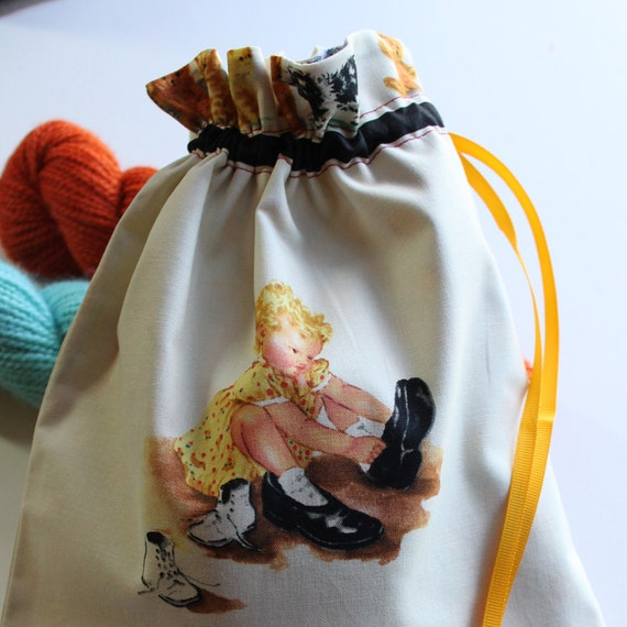 See Stella's Project Bag - Sally's Shoes - New Fabric