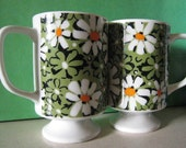 Two Vintage Flower Cups for Tea or Coffee