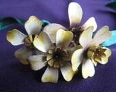 Vintage Set of Metal Flowers
