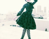 Gothic Black Taffeta Speical Evening Shadow Custom Skirt