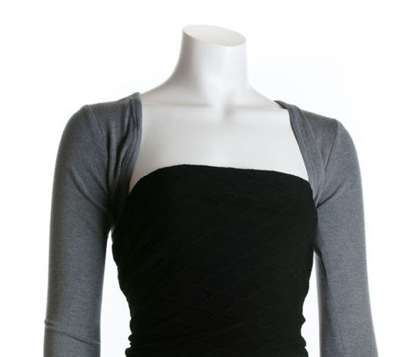 Big SALE Gray Shrug Bolero Armwarmer